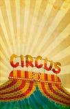 Винтажная предпосылка плаката цирка Стоковая Фотография RF