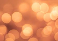 Винтажная предпосылка рождества с светами bokeh Золотое Defocused Стоковые Фотографии RF