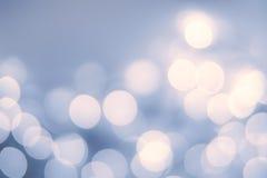 Винтажная предпосылка рождества с светами bokeh defocused bokeh Стоковое Изображение RF