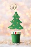 Винтажная предпосылка рождества с украшением рождества Стоковое Фото