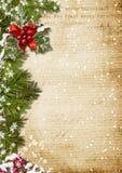 Винтажная предпосылка рождества Стоковое Изображение