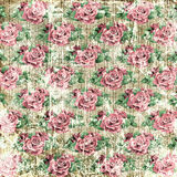 Винтажная предпосылка роз Стоковое Фото