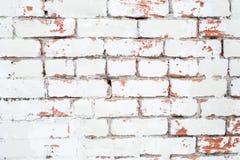 Винтажная предпосылка: старая красная и белая кирпичная стена Стоковое Фото