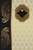 Винтажная предпосылка с декоративными картинами Стоковое Изображение RF