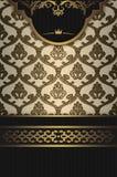 Винтажная предпосылка с декоративными картинами Стоковое Фото