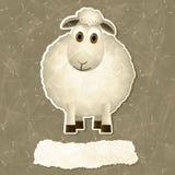 Винтажная предпосылка с овцами Стоковое Изображение RF