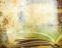 Винтажная предпосылка с старыми книгами Стоковое фото RF