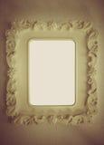Винтажная предпосылка тона старой cream картинной рамки с пустым sp Стоковые Изображения