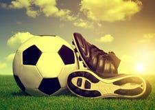 Винтажная предпосылка футбола Стоковое фото RF