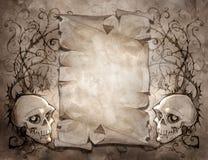 Винтажная предпосылка хеллоуина Стоковые Изображения RF