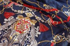 Винтажная предпосылка шарфа дизайна Стоковая Фотография