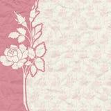 Винтажная предпосылка для приглашения с цветками Стоковая Фотография