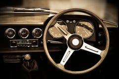 Винтажная приборная панель автомобиля Стоковые Фото
