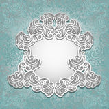 Винтажная рамка в голубом серебряном цвете Стоковая Фотография RF