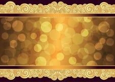 Винтажная рамка золота с местом для текста, вектором eps 10 иллюстрация штока