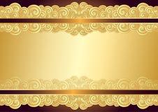 Винтажная рамка золота с местом для текста иллюстрация штока