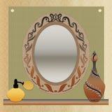 Винтажная рамка и дух зеркала Стоковые Фото