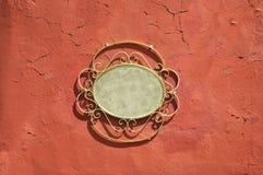 Винтажная рамка металла - предпосылка стены grunge Стоковая Фотография RF