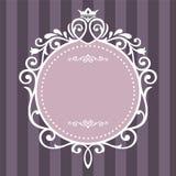 Винтажная рамка на фиолетовой нашивке Стоковое Изображение RF