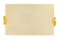 Винтажная рамка фото с вычисляемыми краями Стоковые Изображения RF
