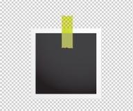 Винтажная рамка фото с клейкой лентой сбор винограда типа лилии иллюстрации красный Вектор il иллюстрация вектора