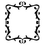 Винтажная рамка черным по белому Стоковое Фото
