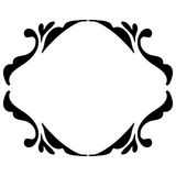 Винтажная рамка черным по белому Стоковое Изображение