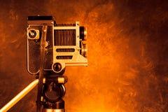 Винтажная ретро камера стоковое изображение