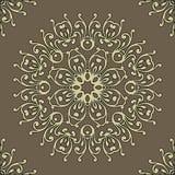 Винтажная ретро картина керамической плитки Картина плитки вектора антиквариаты иллюстрация вектора