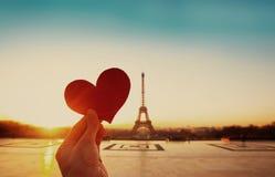 Винтажная ретро карточка от Парижа Стоковое фото RF