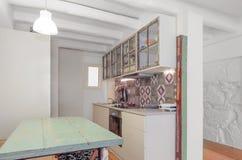 Винтажная ретро кухня стоковые фотографии rf