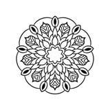 Винтажная ретро орнаментальная мандала Круглая симметричная картина иллюстрация вектора