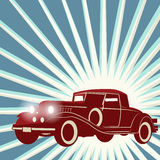 Винтажная ретро предпосылка автомобиля Стоковое фото RF