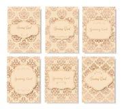 Винтажная рогулька карточки вызывает концепцию иллюстрации орнамента Стоковые Фотографии RF