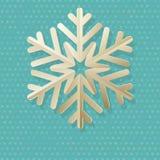 Винтажная рождественская открытка с точкой и снежинкой польки 10 eps иллюстрация штока
