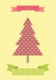 Винтажная рождественская елка иллюстрация вектора