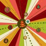 Винтажная рождественская открытка вектора иллюстрация штока