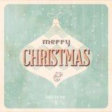 Винтажная рождественская открытка бесплатная иллюстрация