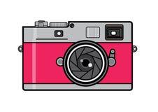 Винтажная розовая камера фильма Стоковое Изображение RF