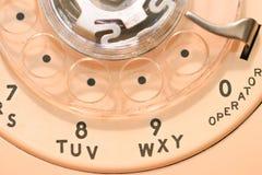 Винтажная роторная шкала телефона стоковое изображение