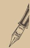 Винтажная ручка чернил иллюстрация вектора