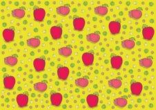 Винтажная свежая картина яблок бесплатная иллюстрация