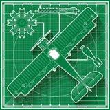Винтажная светокопия самолета бойца Стоковые Фото