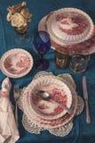 Винтажная сервировка стола Стоковое Изображение