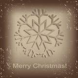 Винтажная снежинка - иллюстрация стоковое изображение