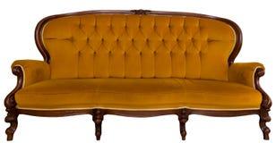 Винтажная софа изолированная на белизне Стоковая Фотография