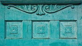 Винтажная старая дверь с дизайнами Стоковое Изображение