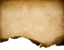 Винтажная старая несенная бумажная текстура с, который сгорели предпосылкой края стоковая фотография rf