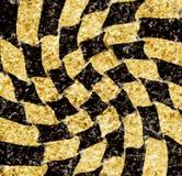 Винтажная старая поцарапанная пустая шахматная доска иллюстрация вектора