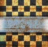 Винтажная старая поцарапанная пустая шахматная доска Стоковая Фотография